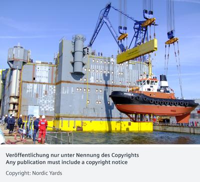 800-Megawatt-HVDC offshore plattform BorWin 2 / 800-Megawatt-HGÜ-Offshore-Plattform BorWin 2